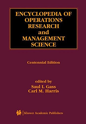 Download Encyclopedia of Operations Research and Management Science
