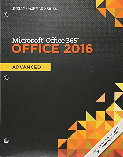 Download Shelly Cashman Series Microsoft Office 365 & Office 2016: Advanced, Loose-leaf Version