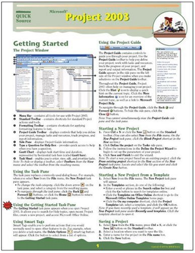 Download Microsoft Project 2003 Quick Source Guide